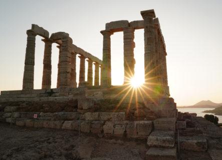 【ポセイドン神殿】神を称える美しき建築物! スニオン岬からエーゲ海の絶景を| アッティカ半島
